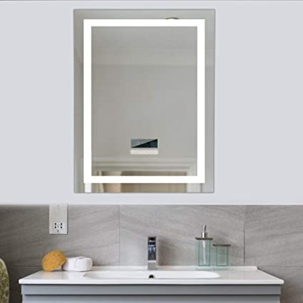 Popspark Specchio Per Trucco Intelligente Con Bluetooth Anti Appannamento Con Specchio Con Touch A Parete Per Bagno Amazon It Casa E Cucina