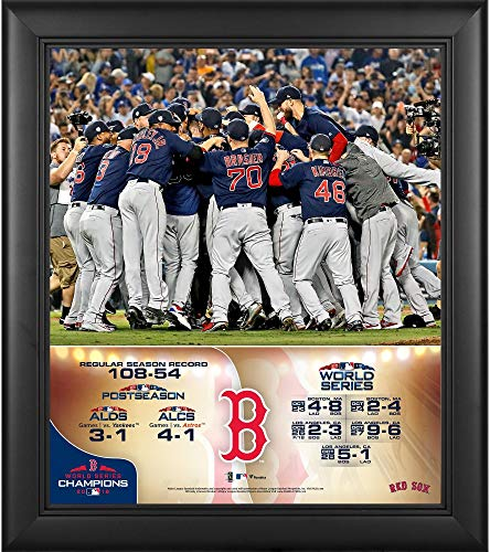 Sports Memorabilia Boston Red Sox 2018 MLB World Series Champions Framed 15