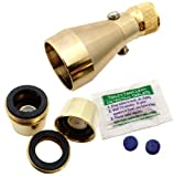 Brass On/off Shower Head Bathroom Kit with Aerator & Dye Tablets Efficient Shower Head | All Brass Finish