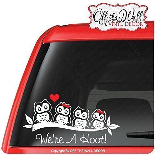 Amazoncom Owl Family Stick Figure Vinyl Car  Truck  Vehicle - Owl custom vinyl decals for car