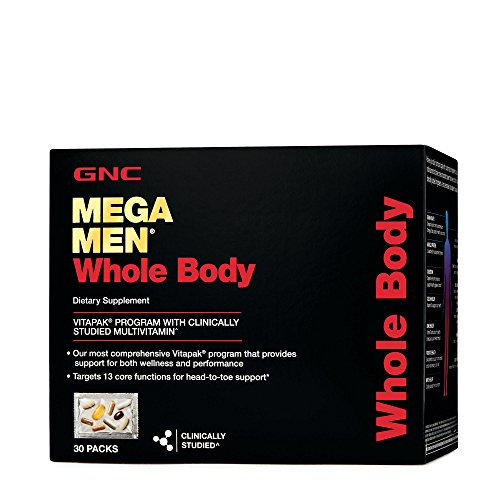 GNC Mega Men Whole Body Vitapak Program, 30 Packets