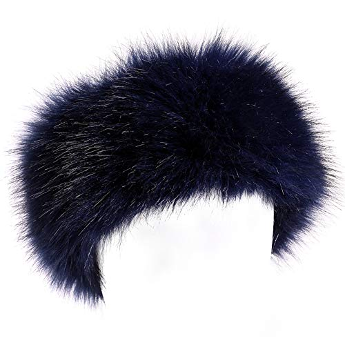 Dikoaina Womens Faux Fur Headband Winter Earwarmer Earmuff Hat -