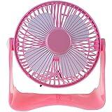 Whitelotous 1Pc Mini Portable Plastic USB Powered Super Mute Electric Desk Cooling Fan (Pink)