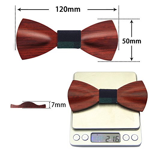 Wooden Hybrid Tie Clothing Wooden Ties Mens Suit Pre Bow Solid Necktie Wood Rosewood Bow for Unique Color Bow Wedding Tie Designs Tied Men Tie Bowtie Adjustable Accessories 0XwnBpqv