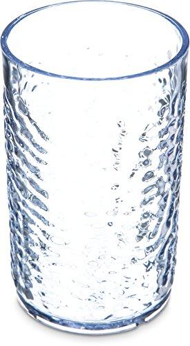 Carlisle 550907 Pebble Optic Tumbler, 9.5 oz, Clear, Plastic (Case of 24)