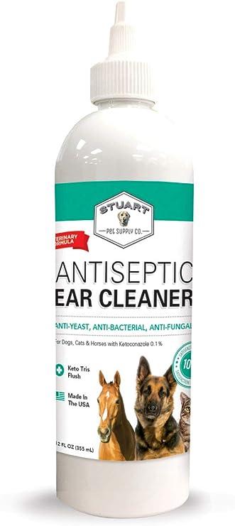 Amazon.com: ANTISÉPTICO Oreja Limpiador para perros, gatos ...