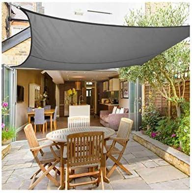 HHJJ Sun Shade Sail Rectangle Impermeable Shade Canopy Sail UV Bloque Sail Shade Cloth,Gray,4x4m(13x13ft): Amazon.es: Hogar