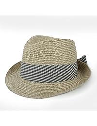 XZP Sombreros de Sol para Mujer para Lady Beach Sombrero de Panamá con  Bowknot de Moda 0b459af197e