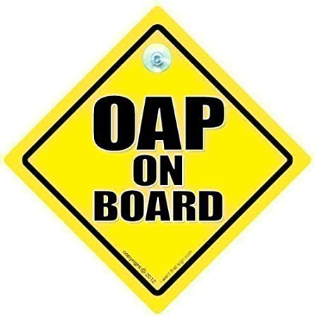 Oap on board car sign car sign bumper sticker baby on board