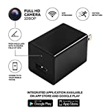 Hidden Spy Camera - 1080P HD Security Camera and USB Wall Charger - Motion Detection - Hidden Spy Camera / Nanny Spy Camera Adapter - Can Charge Phones
