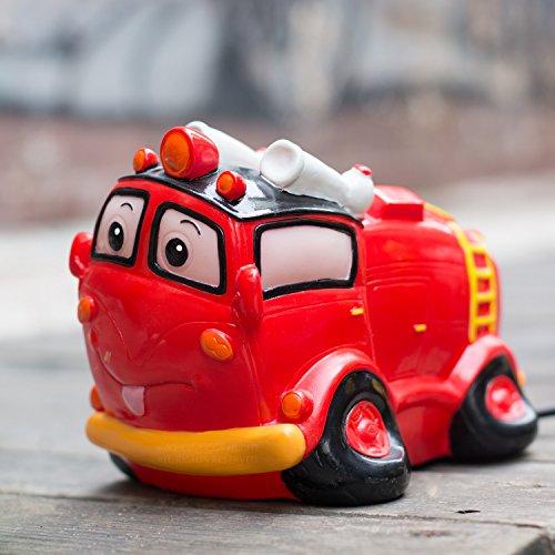 Amazlab Fire Truck Children's Table Night Lamp Cartoon To...
