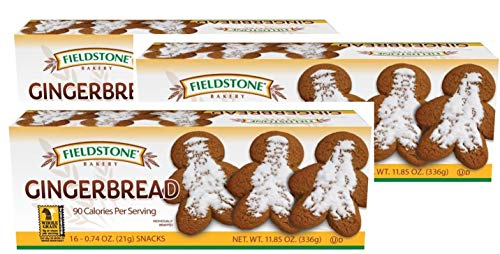 Fieldstone Bakery Gingerbread Cookies, 3 Boxes, 48 Individually Wrapped Cookies, 11.85 oz Box