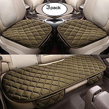 2 1 Coprisedili Anteriori e Coprisedili Posteriori HCMAX Morbido Coprisedile per Auto Cuscino Tampone Stuoia Protettore per Forniture Automatiche per Sedan Hatchback SUV