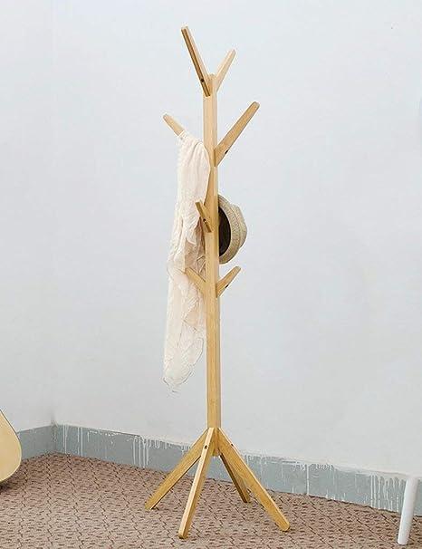 GWFVA Perchero Perchero de bambú Madera Maciza Perchero ...