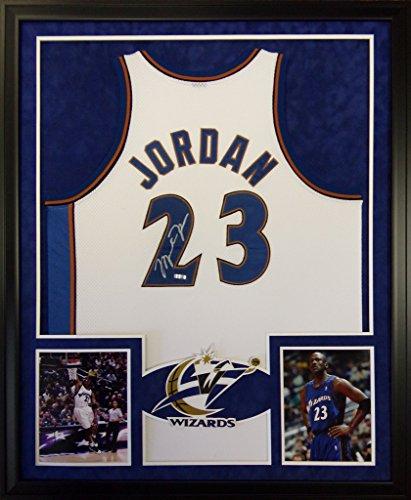 Michael Jordan Washington Wizards Autograph Signed Custom Framed UDA Upper Deck Authenticated ()