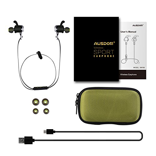 Pickup AUSDOM Bluetooth Earphone Headphones, Model SM199 - In Ear Wireless Stereo Sport Earbuds with Mic for iPhone Android Phones, Tablets and Smart Devices cheapest