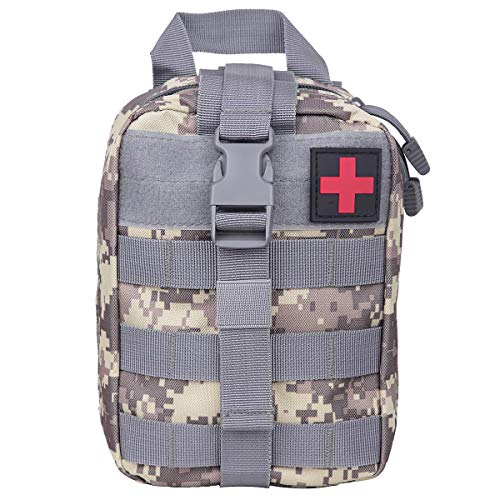 (Sportmusies Tactical First Aid Kit Pouch Molle Attachment Medical Kit Utility Pouch ACU Digital Camo)