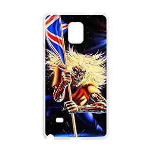 Samsung Galaxy Note 4 Cell Phone Case White Iron Maiden 003 Delicate gift AVS_649876