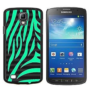 Eason Shop / Premium SLIM PC / Aliminium Casa Carcasa Funda Case Bandera Cover - Naturaleza del patrón Zebra Negro Stripes - For Samsung Galaxy S4 Active i9295