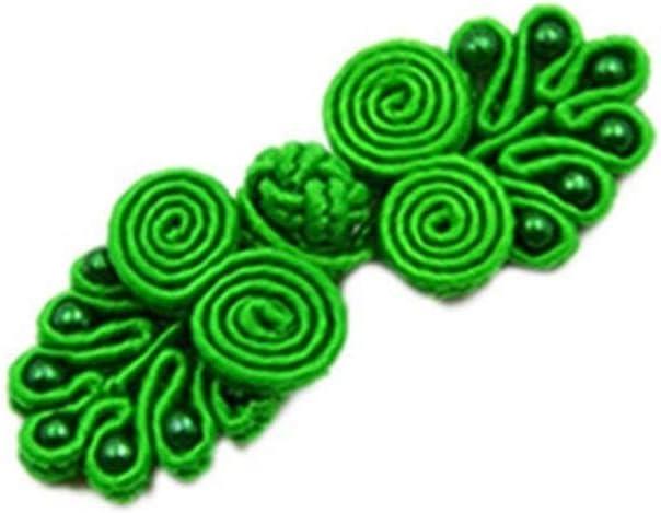 4pcs Nudo Chino Botones con Cuentas, Botones De Fantasía, Joyería Hecha A Mano De Bricolaje (Color : Green)