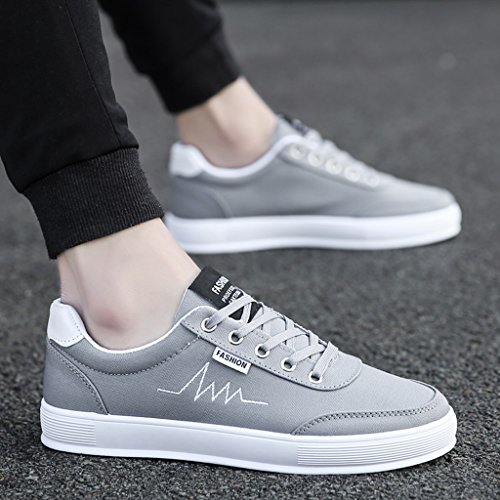 stile scarpe tela uomo tendenza Nuove 40 Red Color scarpe coreano da Gray stile traspiranti maschile scarpe di Size YaNanHome scarpe casual 6PFq6