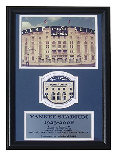 Encore Select 190-43 MLB New York Yankees Deluxe Frame Yankee Stadium Photo and Commemorative Patch, 12-Inch by 18-Inch