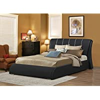 Myco Furniture Katrina Queen Platform Bed, Black