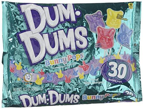 Dum Dums Easter Bunnies Pops 10.5 Oz Bag, 30 Pops (Single Pack)