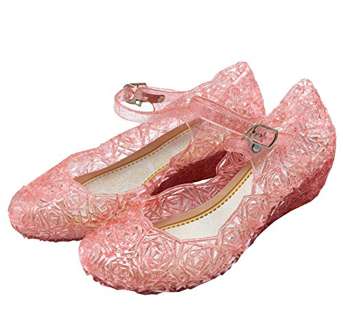Cinderella Baby Girls Soft Crystal Plastic Shoes Children's Princess Shoes(Toddler/Little Kid) Pink