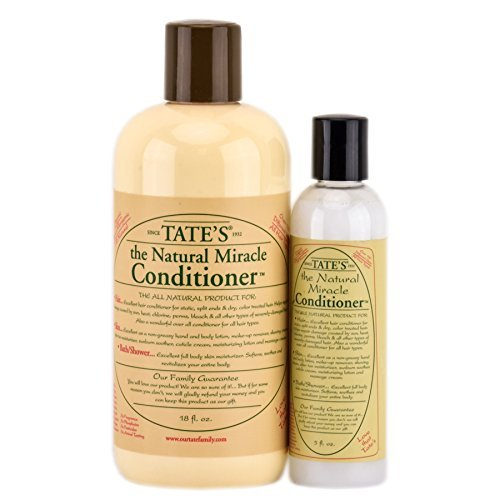 Tates Miracle Conditioner - Tate's Natural Miracle Conditioner - 18 fl oz with FREE 5 fl oz Mini Conditioner!