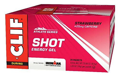 CLIF SHOT - Energy Gel - Strawberry - With Caffeine (1.2 Ounce Packet, 24 Count) by Clif Shot Gel