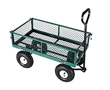 Carrito para remolcar a mano Neo®, alta resistencia, de metal, de jardín, para festivales, 4 ruedas: Amazon.es: Hogar