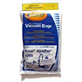 Royal Style P Vacuum Cleaner Bags For Airo-Pro Canister RY1000, Designed to Fit Royal Part # 3-RY1100-001 (3RY1100001)