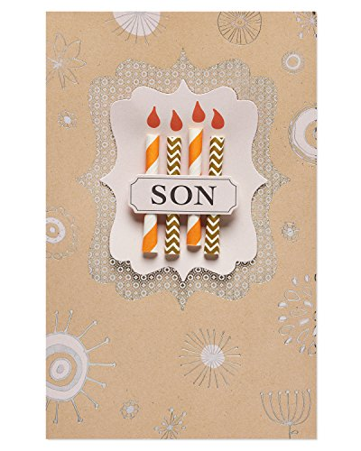 American Greetings Candles Birthday Card for Son with Foil