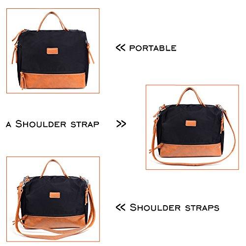 Large Handbag Fashion Shoulder Bag Travel Tote Bag For Women (Brown) by Vintga (Image #6)