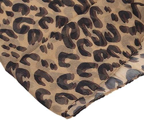 Premium Smooth e Soft Sheer Infinity Sciarpa con stampa leopardata Fashion All-match Style adatto ad ogni occasione