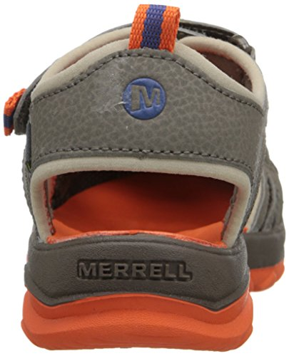 Merrell MerrellMl-b Hydro Rapid - Zapatillas Impermeables Para Chico, Color Negro Gunsmoke/Orange