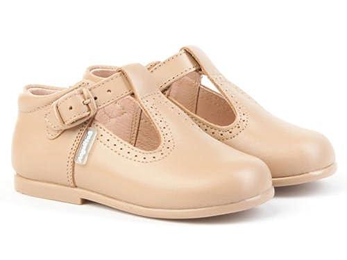 0c28449fd AngelitoS Pepitos de niño de piel color camel. Marca Modelo 503. Calzado  infantil hecho en España. Número 19  Amazon.es  Zapatos y complementos