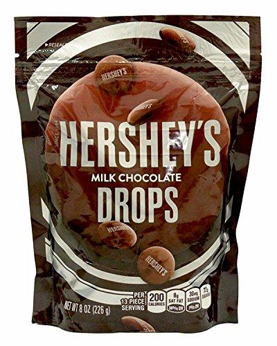 HERSHEY'S Milk Chocolate Drops, 8 Ounce (Hershey Chocolate Drops)