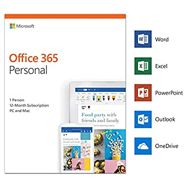 microsoft office 365 personal 1 user 1 year pc mac download