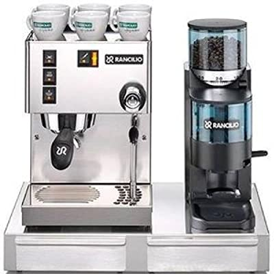 Rancilio Silvia and Rocky Bar Combo with Base - Doser (20th Anniversary Edition - Black)