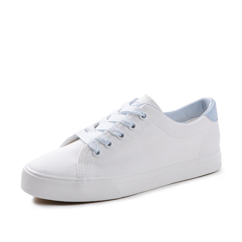 Koyi Koyi Femmes Chaussures Chaussures Girls Nouveaux étudiants Blanc Chaussures Blanc Espadrilles Sneakers Low Top Flat Casual Girls Chaussures Blue d73ef92 - fast-weightloss-diet.space
