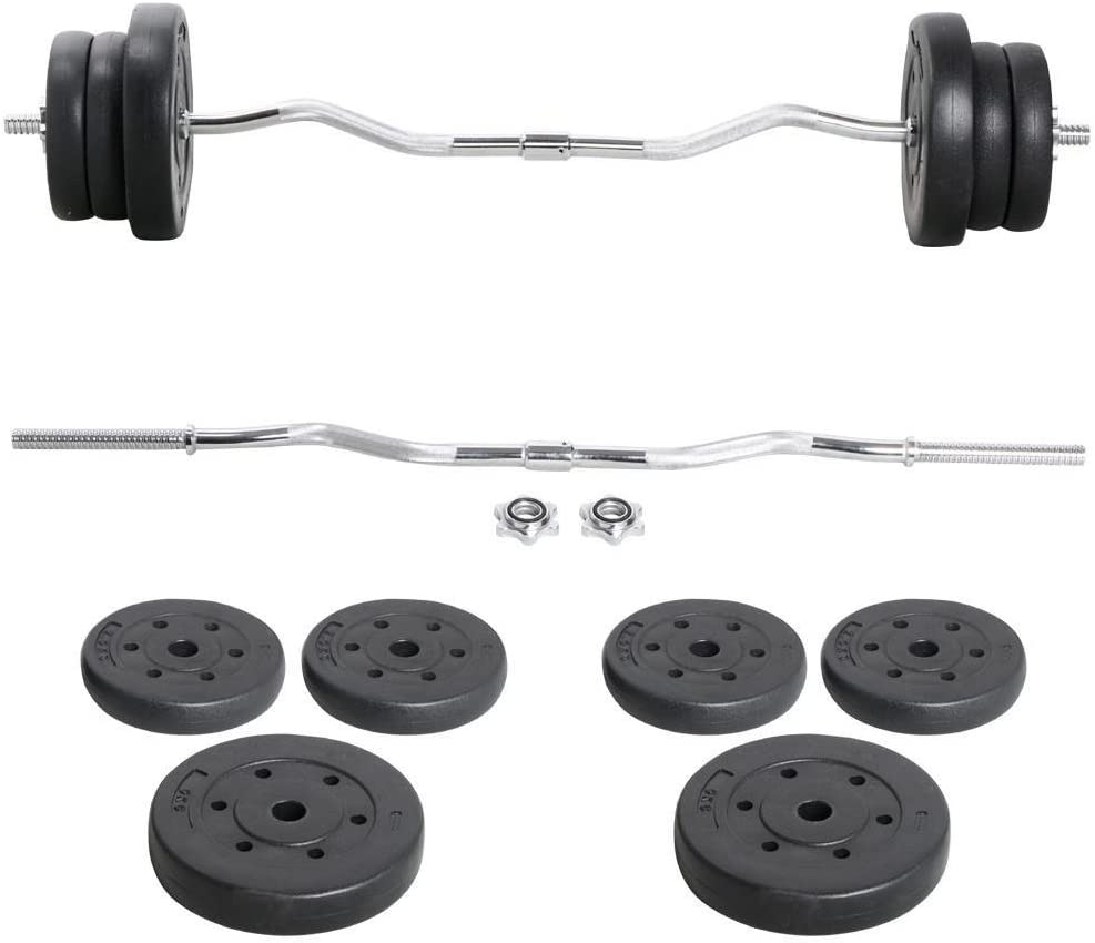 Cosply 7 Feet Weights Barbell Set Olympic Curl Bar Household Exercise Lifting Bumper for Fitness Workout