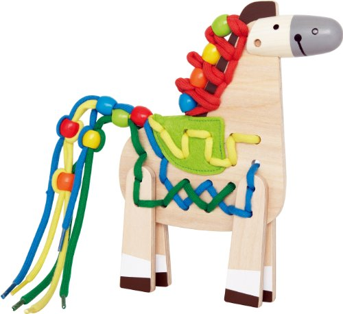 Lacing Craft - Hape Wooden Lacing Pony Kid's Arts and Crafts
