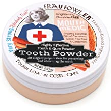 Frau Fowler Mouth Medic Tooth and Gum Powder, Cinnamon and Clove, Botanically Clean, Teeth-Whitening, Remineralizing, Fluoride Free, Gluten Free, SLS Free used to Strengthen Enamel and Freshen Breath!