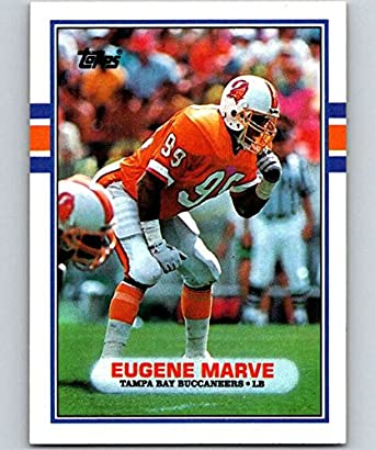 a4fc2274488 Amazon.com  1989 Topps  335 Eugene Marve Buccaneers NFL Football ...