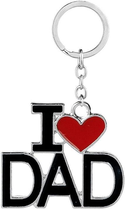 Dad Father Love Hearts I Heart Love Keychain Key Ring