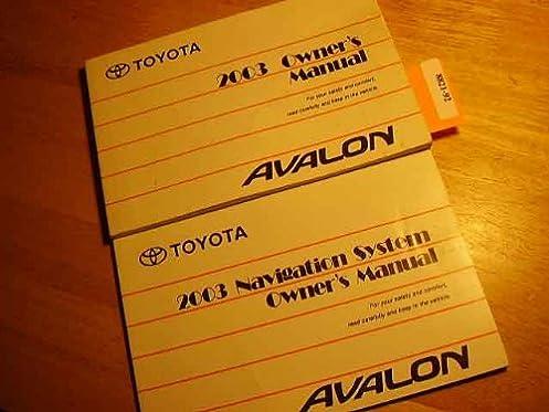 2003 toyota avalon owners manual amazon com books rh amazon com 2000 toyota avalon owners manual pdf 2006 Toyota Avalon