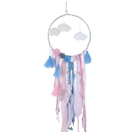 Loneflash Dream Catchers Handmade Hanging Cloud Wall Decorations With Best Wish Great Birthday Gift Creative