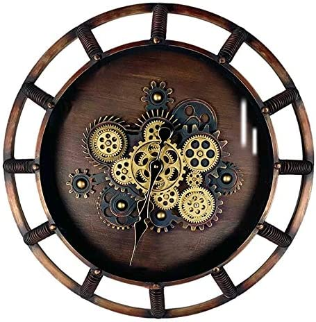 SevenUp Steampunk Wall Clock Large Metal Quartz Movement Gear Clock